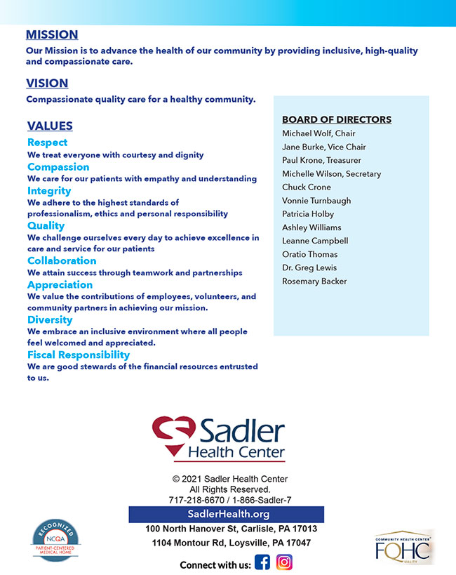 Sadler 2020 Impact Report - Page 4